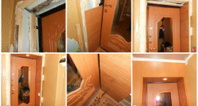 Установка откосов на входную дверь своими руками