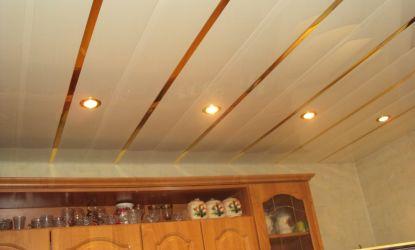 Потолок на кухне из пластиковых панелей своими руками