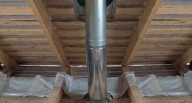 Как вывести трубу из бани через потолок своими руками?