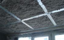 Потолок в частном доме своими руками