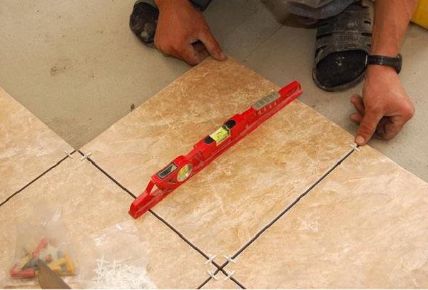 Как сделать уровень плитки