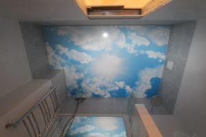 Натяжной потолок - небо