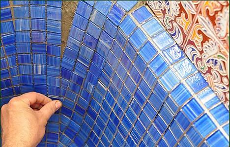 Кладка мозаикой