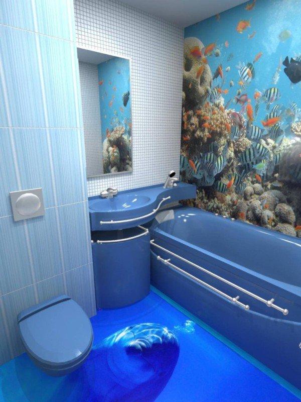 Система пола в ванной комнате