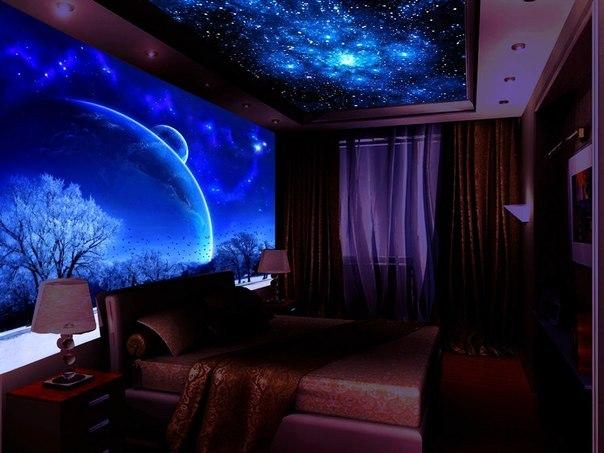 Звездное небо в спальне своими руками