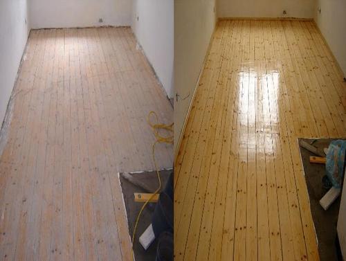 деревянный пол после шлифовки