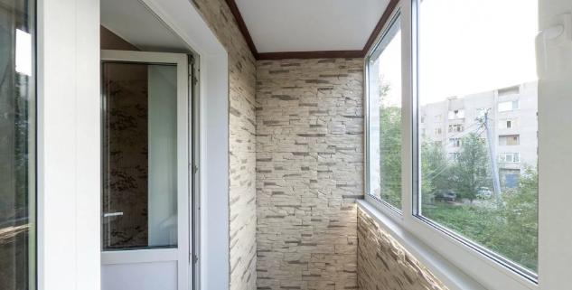 Как отделать балкон внутри фото