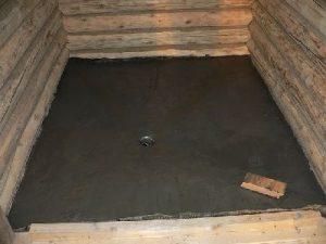 Черновой пол в бане