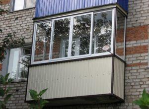 Двухцветный балкон