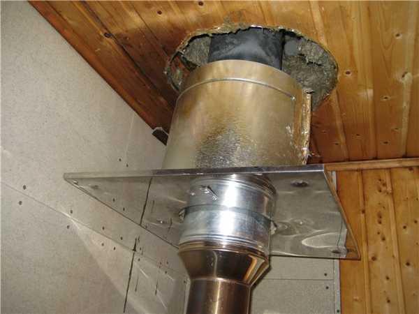 Вывод трубы через потолок