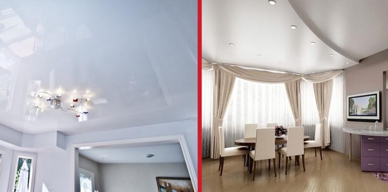 Потолок гипсокартон или натяжной