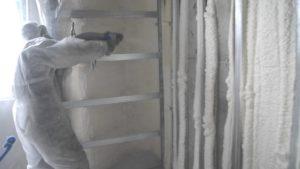 Утепление бетонной стены пенополиуретаном