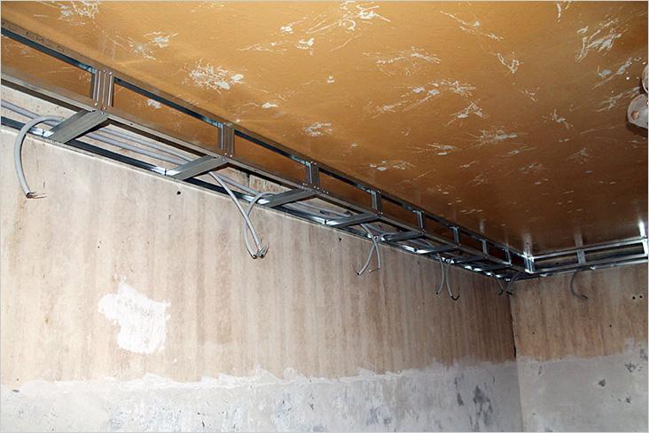 гипсокартон под натяжной потолок