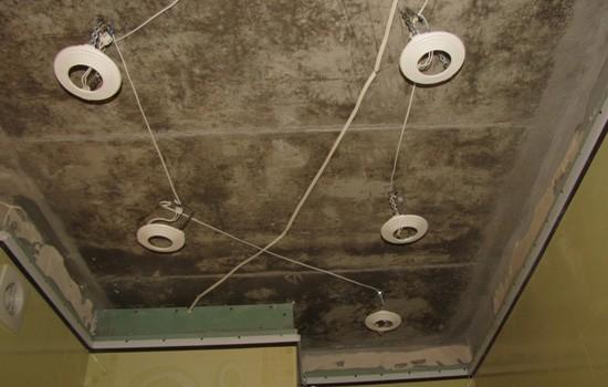 Осветительные приборы в натяжном потолоке