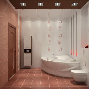 Красивая просторная ванная комната